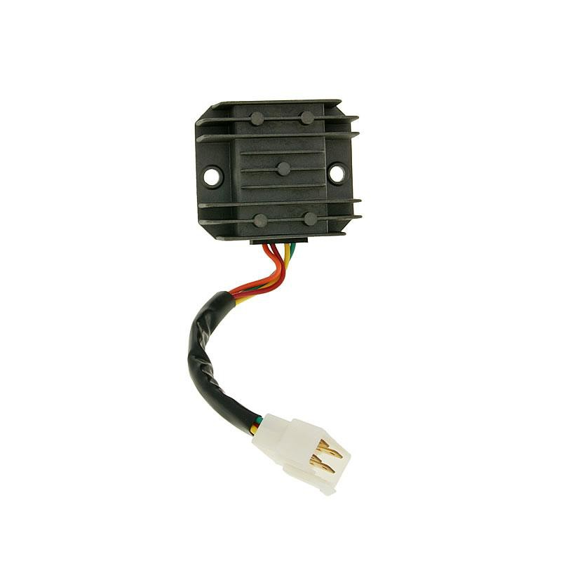 regulator 4 pin incl wire for gy6 50 150cc. Black Bedroom Furniture Sets. Home Design Ideas