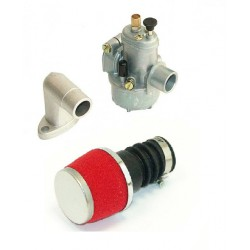 Set Bing 15mm kit + Air filter SPORT- Red -Puch