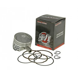 Piston set 65cc for Naraku cylinder SYM 50 4T , Peugeot 50 4T