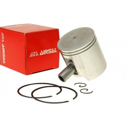 Piston kit Airsal sport  47mm, cast iron for Derbi EBE EBS