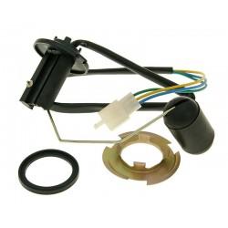 Fuel level sensor unit for metal fuel tank