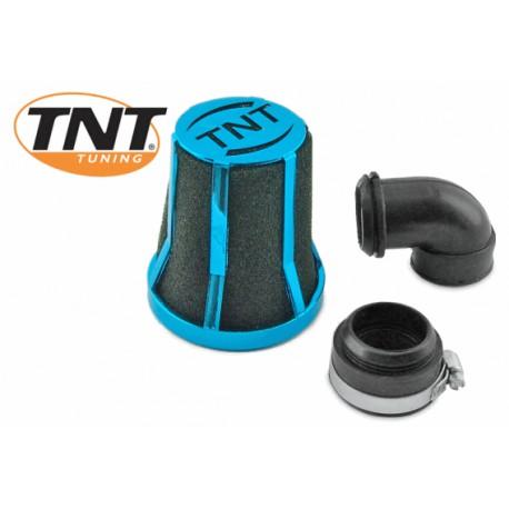 Športni zračni filter bordo MODER z setom( 90°,fi 30/35)  TNT