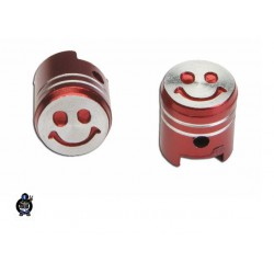 "Valve cups (2 pcs.) red ""smile"""