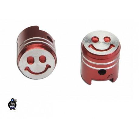 Okrasna kapica ventilčka Bat  Smajli  Rdeča                                                      T4Tune