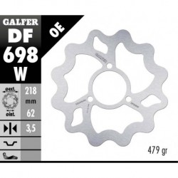 Brake disc- Galfer WAVE - Derbi DRD 50 ,Senda 50 - 125cc / Yamaha DT 50-125 , XT 125
