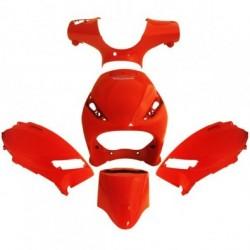 Set plastika 4Tune Piaggio Zip - Crvena - 5 delni