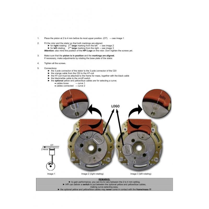 Inner rotor HPI for Yamaha YZ 125 96-04 , TM MX85 MX100 , EN 125