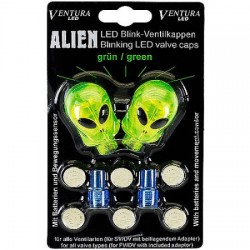 valve cap set Alien -Green