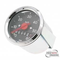 speedometer 60mm for Puch Maxi, Tomos MV, MS, DS, Simson, Herkules