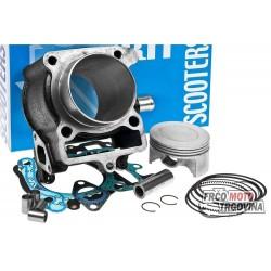 cylinder kit Polini cast iron sport 170cc for Yamaha Majesty, Benelli Velvet, MBK Cityliner 125-150cc 4T