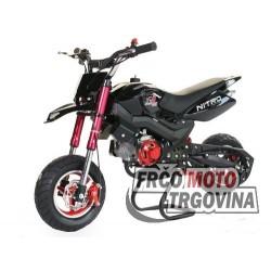Dječji Mini Moto - DirtBike - SPORT  Road  50cc -CRNI