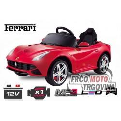 El. auto  - Ferrari F12 1x 25W 12V -Rdeč