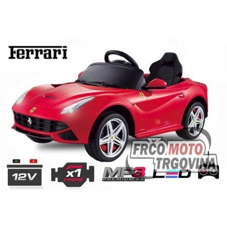 Električni avto - Ferrari F12 1x 25W 12V -Rdeč
