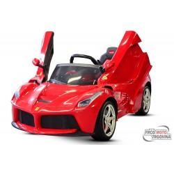 Dječji  avto - Ferrari LaFerrari 2x 25W 12V -Rdeč