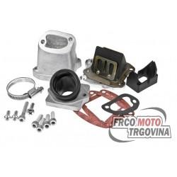 Intake manifold Polini 360 30/35mm reed block for Vespa 125 Primavera, ET3