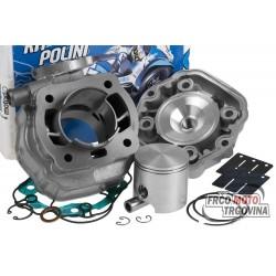 Cylinder kit Polini cast iron sport 80cc for Derbi Senda GPR, Gilera GSM SMT RCR Zulu EBE / EBS