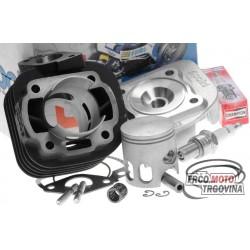 Cylinder kit Polini cast iron racing 70cc for Minarelli horizontal AC