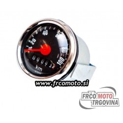 Speedometer 48MM VDO 0-100 km/h - Tomos / Puch -BLACK
