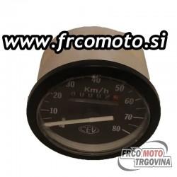 Speedo meter CEV 0-80km/h - Tomos