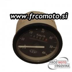 Speedmeter CEV 0-60km/h - Tomos