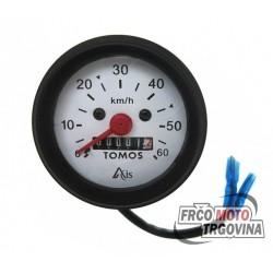 Speedometer Tomos 0-60km/h - 60mm