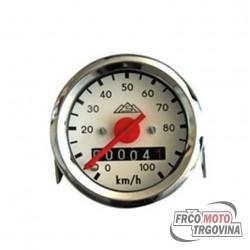 Speedometer 100 km/h round - 48mm - MMB  - Tomos - Puch