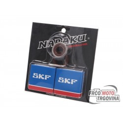 Crankshaft bearing set Naraku SKF C4 metal cage for Minarelli AM