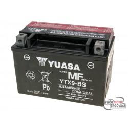 Battery Yuasa YTX9-BS DRY MF 12V 8Ah - maintenance free