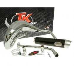 Izpuh Turbo Kit Bufanda RQ chrome E-PASS -  Yamaha DT50