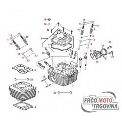 Tesnilo pokrova ventilov - guma za Kymco Zing II 125ccm