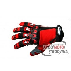 gloves X3-S-long-sleeved black / red stretch