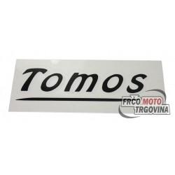 Naljepnica Tomos Crna 11x 5xm