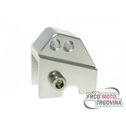 shock extender CNC 2-hole adjustable mounting - platinum look for Piaggio
