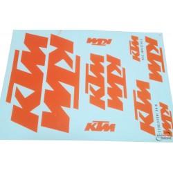 Set naljepnica KTM - 35 x25 cm
