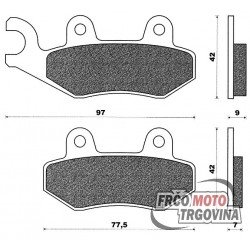 Brake pads Agility 50 -125 C4