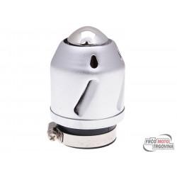 Zračni filter K&S Grenade srebrna boja ravna verzija 28/42mm priključak karburatora (adapter)