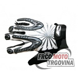 gloves X2 XS long-sleeved, gray, stretch, with rubber-patched hand, synthetic leather palm Mzone