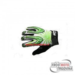 gloves X2 XS long-sleeved, green, stretch, with rubber-patched hand, synthetic leather palm Mzone