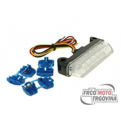 Tail light LED clear 78x16mm E-marked universal