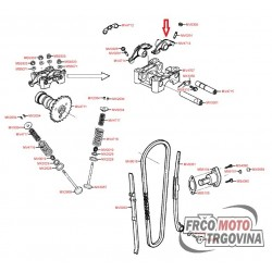 Klackalica usisnog ventila KYMCO MXU 150