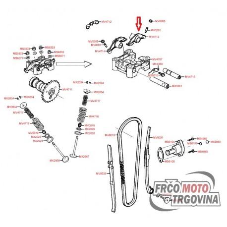Ročica sesalnega ventila KYMCO MXU 150