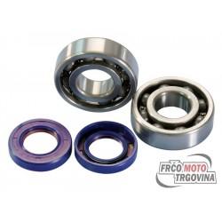 Crankshaft bearing set Polini for Derbi D50B0 , EBE , EBS