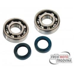 Crankshaft Bearing Kit BARIKIT NTN C4 for Derbi - Piaggio 50cc LC 2T