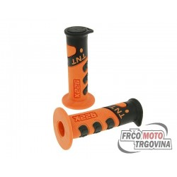 Handlebar rubber grip set TNT 922X Orange , Black