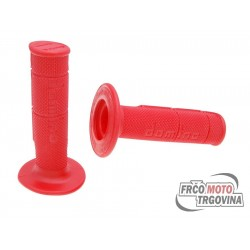 Handlebar rubber grip set Domino 1150 off-road Red