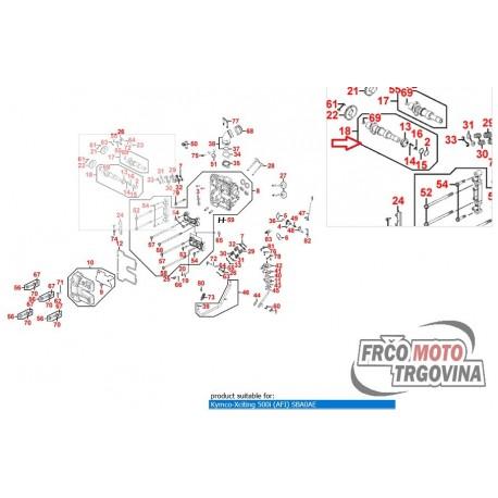 Odmična gred izpušna Kymco Xciting 500i , MXU 500 , UXV 500 , MXU 550i