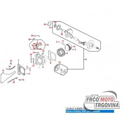 Karike set za Kymco Xciting 500 , 500i , MXU 500 , UXV 500 -Original