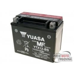 Akumulator Yuasa YTX12-BS DRY MF 12V 10.5Ah brez vzdrževanja