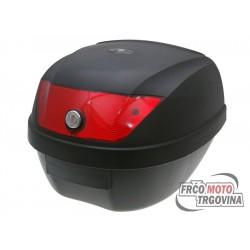 Kovček za čelado 28L Rdeče leče z nosilcem in 2 ključa