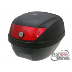 Top Case black - lock with 2 keys , Red lens - 28L capacity